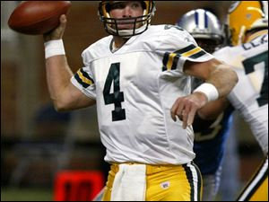 Underestimating Brett Favre 'is always the wrong thing to do,' Lions defensive end James Hall said Sunday after Favre's Green Bay Packers ripped Detroit 38-10. The Packers started the season 1-4 and couldn't afford another loss. Favre made sure they won by completing 25 of