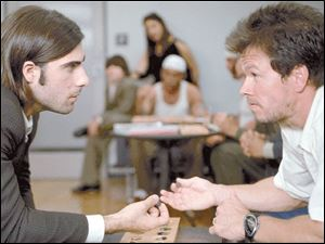 Jason Schwartzman, left, and Mark Wahlberg a scene from I  Huckabees.