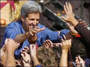 Sen. John Kerry at a rally in Elyria, Ohio, in early October.