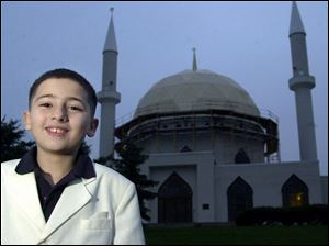 Salah Ramadan of Sherman Elementary is thankful for his religion, Islam.