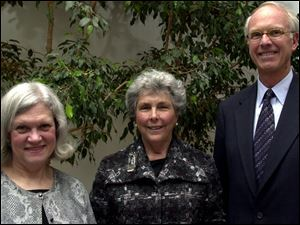 From left, Lee Hakel, Nancy Williams, and William Heywood at the Planned Parenthood Levison award ceremony.