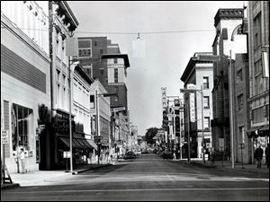 Downtown Toledo's Adams Street was a thriving shopping destination in 1960.