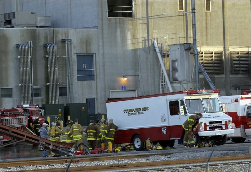 About 50 firefighters respond to an explosion at the Iams pet food