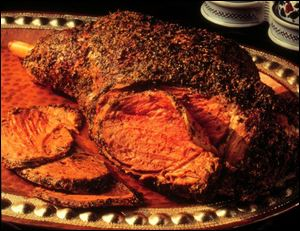 Herbal Leg of Lamb can be roasted or grilled.