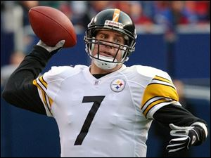 To show the Steelers don't move solely on the ground, QB Ben Roethlisberger completed 18 of 28 passes for 316 yards.