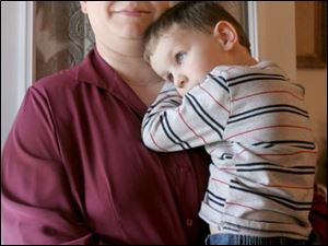 Wauseon-area resident Brenda Canada, with her son, Andrew, 4, also is the mother of two daughters who are in their 20s.
