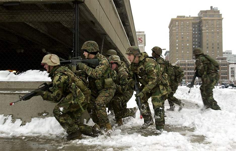 Marines-prowl-streets-of-downtown-Toledo