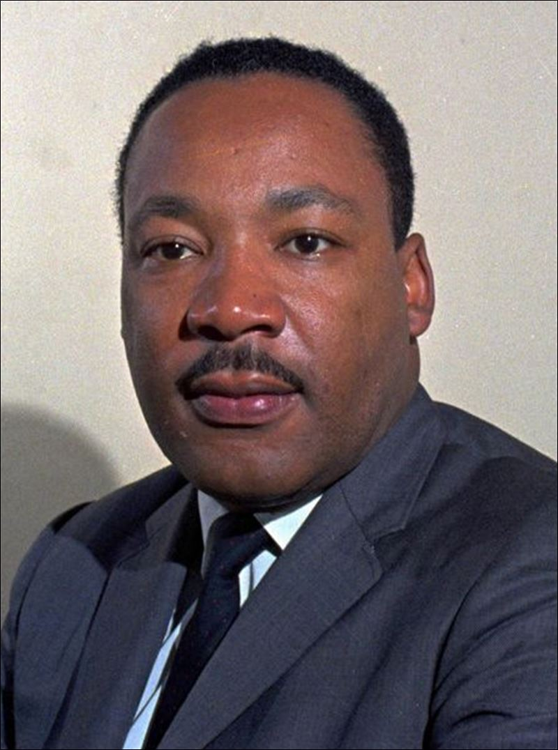 FILE--The late Rev. Martin Luther King Jr. is shown in this undated ...