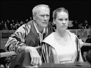 Frankie Dunn (Clint Eastwood) is a grizzled old trainer who agrees to coach a feisty upstart boxer,Maggie (Hilary Swank).