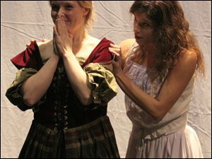 Anna Enflo, left, is Emilia, and Brie-anne Murphy is Desdemona