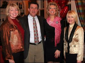 FINE DINING: From left, Patti Jo and Bill Fantozz, Annette Gruetter, and Betty Lazzaro have a fine time 'Dining for the Y.'