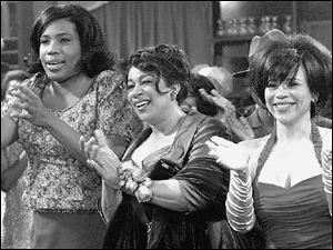 Pauline (Macy Gray), Nanny Crosby (S. Epatha Merkerson), and Bertha (Rosie Perez) enjoy a night out at Maxie s, a local