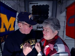 Patrick and Sally Plicinski have been married for 44 years, despite favoring different football teams.