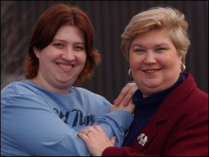 Anne Walston, right, of Bowling Green, took a 'tough love' parenting approach with her daughter, Shannon, left.
