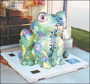 Enviro-Tech, a frog statue that was part of Toledo s  It s