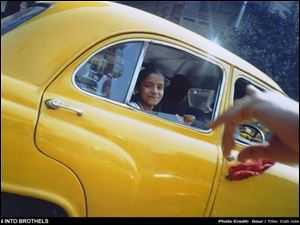 Cab Ride is the title of a photo taken by 13-year-old Gour, one