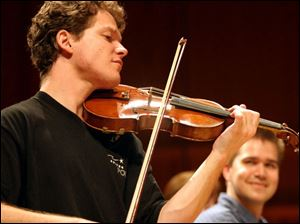 Violinist Corey Cerovsek will join the Toledo Symphony this