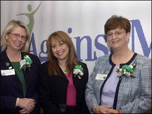 MS FIGHTERS: Suzanne Carroll Witherell, left, Bonnie Tucker, and Jacque Pratt are advocates for a cure.