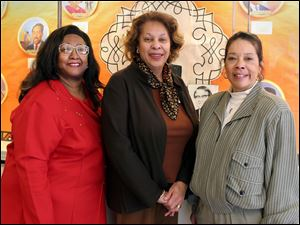 TRIO: Patsy Bolden, left, Patsy Stephens Kiros, and Denise Usher celebrate Women's History Month.