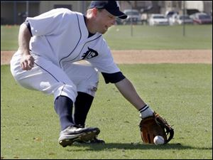 Detroit's Brandon Inge said he feels like a little kid again now that he doesn't have to catch for the Tigers, not even as a backup.