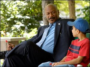 Ving Rhames plays a tough cop who has a soft spot for kids in the