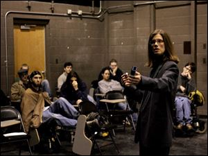 Tammy Kinsey teaches a film class at the University of Toledo.