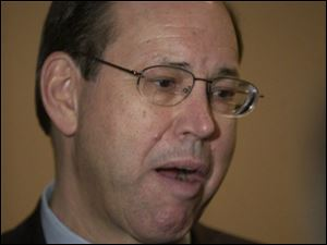 Bob Taft refused to comment on the state's investing with Toledo coin dealer Tom Noe.