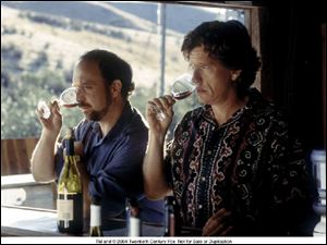 Paul Giamatti, left, and Thomas Haden Church in Sideways.