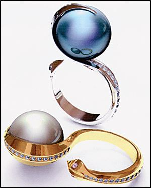 Nick Licata won a first-place award for two pearl rings.