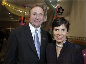 A REAGAN VISIT: Michael Reagan and Susan Palmer converse at the Toledo Children's Hospital event.