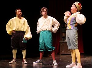 Among the cast members in the University of Toledo s production of The Complete Works of