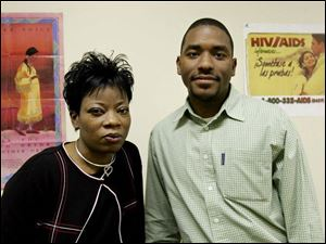 LaShanna Townsend, left, and JaVonn Bruce work as mentors at Fresh Attitude, a drug and alcohol treatment center.