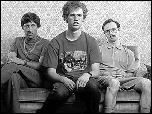 From left, Jon Gries, Jon Heder, and Aaron Ruell in Napoleon