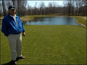 Gary Shaneck (owner) stands on the tee of the 7th hole which is part of the new 9 holes that has been added to Spuyten-Duyval golf course located at 9501 W. Central Ave.