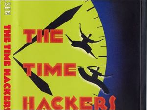 "FEA Dust jacket cover for ""The TIme Hackers,"" by Gary Paulsen."