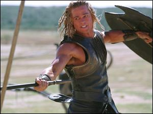 Some of the more graphic portions of Brad Pitt s movie Troy were edited out in the  sanitized  version