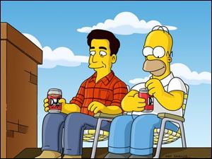 Ray Romano provides the voice of Ray Magini, left, Homer