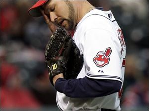 Cleveland's Jake Westbrook has given up just three earned runs in 16 innings against the rest of the American League, but Detroit has scored 16 in less than five innings. His record is 0-5.