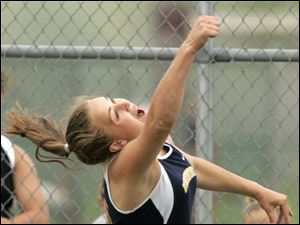 Woodmore s Emily Pendleton is looking to defend her Division III state discus title in Columbus.