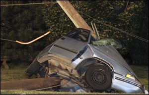 The driver of the car was pronounced dead at the scene after striking the pole, police said.