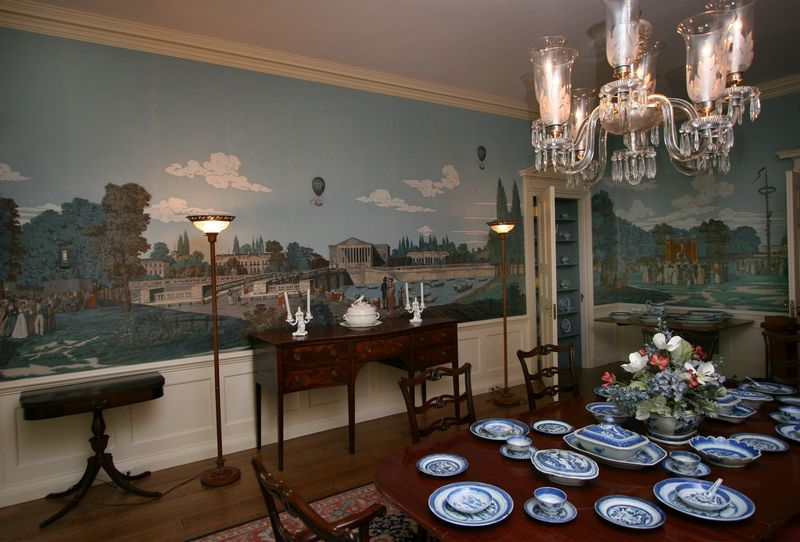French Restoration Historic Mural In Manor House Will Be