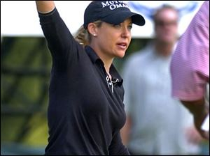 Cristie Kerr celebrates winning the LPGA State Farm Classic last September in Springfield, Ill.