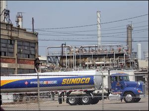 The Sunoco Toledo Refinery produces some of the 8 million gallons of gas sold here each day.