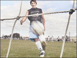 Genoa senior Cory Hornyak has the Comets on pace to win a fourth straight Midland Suburban Soccer League championship.
