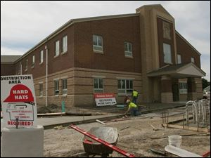 The new Oakdale Elementary School in East Toledo is in the finishing stage of construction for Toledo Public Schools.