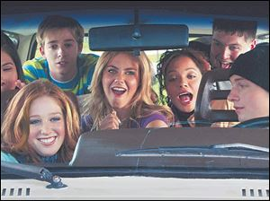 The cast of Kids in America includes, from left, Emy Coligado, Stephanie Sherrin, Alex Anfanger,