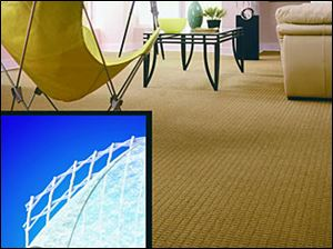 The double-built construction of luxury backing makes carpet feel softer and adds strength for longer lasting beauty.