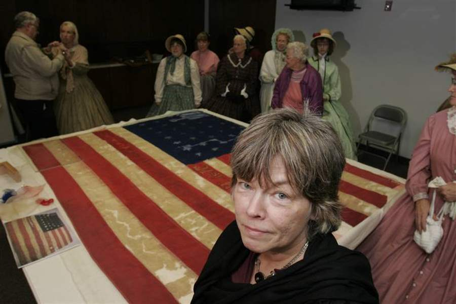 Restored-Civil-War-flag-to-fly-on-museum-wall