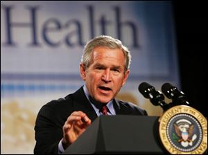 President Bush says he wants to stockpile enough vaccine to protect 20 million Americans against a flu pandemic.