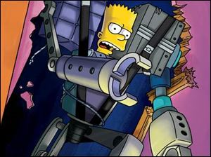 The Simpsons adopt a robot boy, David, then discover they like him better than Bart.